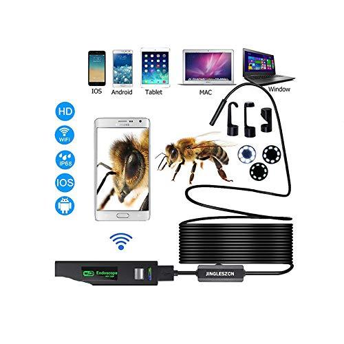 STHfficial WiFi endoscoop HD 1200P 1-10 m mini draad waterdicht draadloos 8 mm 8 LED camera endoscoop voor Android PC iOS endoscoop