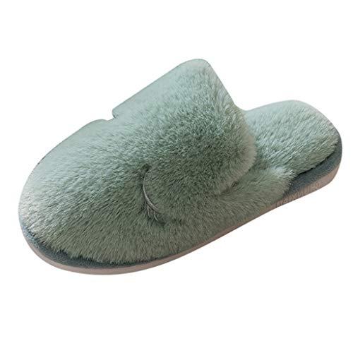 Zapatillas de Estar por Casa Mujer Invierno Pantuflas Zapatillas Peluche Algod/ón Suave Zapatillas de de Fondo Grueso Zapatillas de Casa Bonitas y C/álidas Xinantime Zapatillas de Estar por Casa