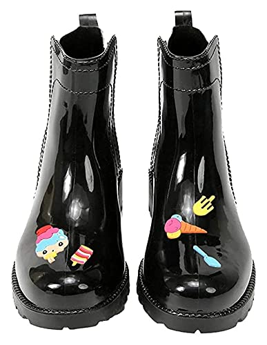 YYhkeby Botas de lluvia para mujer Botas de lluvia cortas de corte bajo y desnudo impermeables antideslizantes botas de jardinería (color: rosa helado niña, tamaño: 37 EU) Jialele