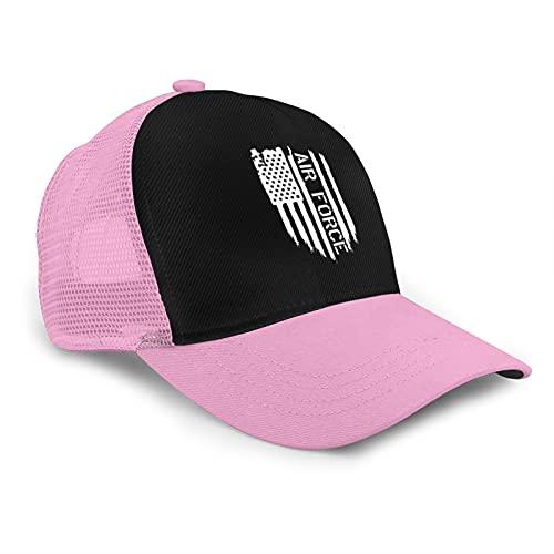 Nosotros Veterano de la Fuerza Aérea con USAF Sello Estilo Americano Malla Transpirable Gorra de Béisbol Ajustable Hip Hop Snapback Sombreros, rosa, Taille unique