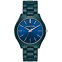 Michael Kors Slim Runway Quartz Blue Dial 42 mm Watch