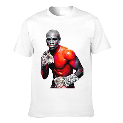 Men's T-Shirt Floyd Mayweather Jr-Printed Trendy Short Sleeve Tees Men Top T Shirts Asian Size White