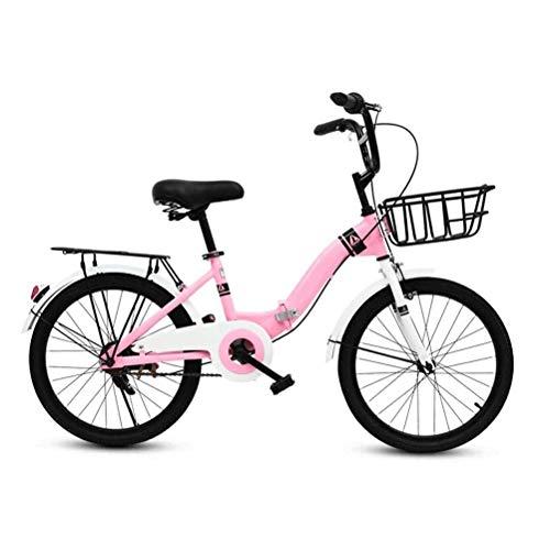 Bicicletas niños, bicicleta plegable para niños, 16 pulgadas Estudiante plegable bicicleta Niña...