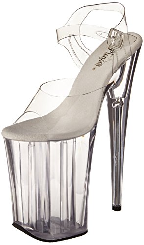 Pleaser Women's Infinity-908/C/M Platform Sandal,Clear/Clear,9 M...