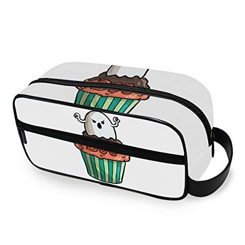 FAJRO Sac de voyage pour Halloween Gobelin Cupcake Trousse de toilette multifonction portable Trousse de toilette Trousse de maquillage Organisateur pour voyage