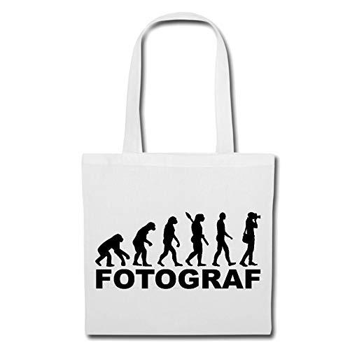 Tasche Umhängetasche FOTOGRAF - DIGITALKAMERA - FOTOGRAF - FOTOSHOOTING - FOTOGRAFIEREN Einkaufstasche Schulbeutel Turnbeutel in Weiß