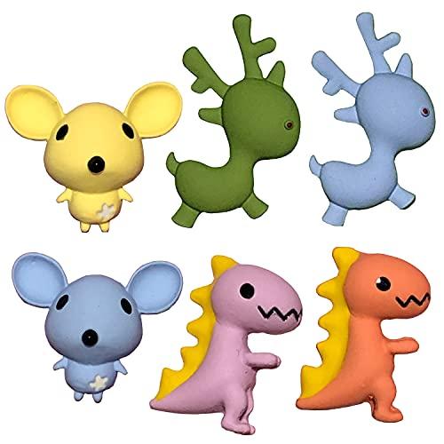 BRACO » Pin Animales - Pines para niños y niñas – Pins de Dinosaurios – Insignias de Animales – Broches de Ratones » Pack de 6 Pins Originales para Ropa