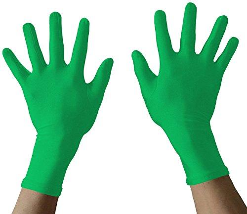 Seeksmile Adult Spandex Gloves (Free Size, Green)