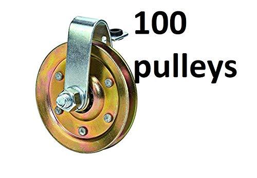 New Heavy-Duty-Garage-Door-Spring-Pulley 100 Clevis Pulleys