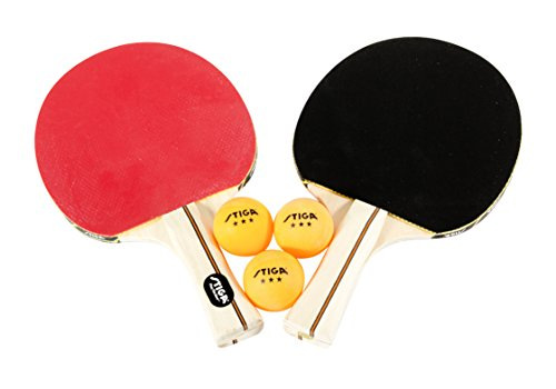 STIGA Performance 2Player Table Tennis Set Includes Two Rackets and Three 3Star Balls