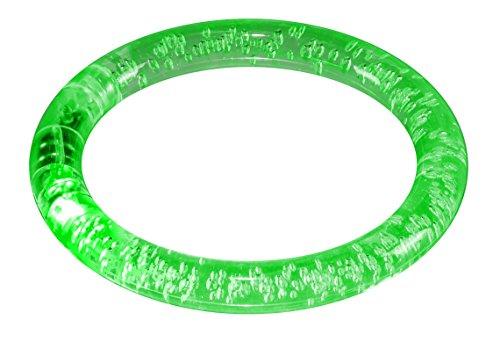 LED-Highlights Leuchtarmband Reflektor Armband grün Leuchtend Innen Ø 6 cm Batterie wechselbar wasserdicht Outdoor Beleuchtung
