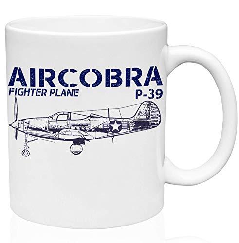 Coffee Mug P 39 Aircobra 330Ml Taza De Cerámica Duradera Oficina De Cerámica Personalizada Taza De Porcelana Blanca Única Novedad Taza De Café Unisex Hogar Para Té Té Cacao