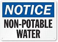 安全標識-通知:飲用に適さない水錫金属標識通知標識通りの道路警告標識
