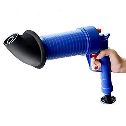 Abfluss-Blaster Air Power Hochdruck Abflussöffner für WC Waschbecken oder blockiertes Bad WC Rohrreiniger Bad mit 4 verschiedenen Größen Saugnäpfen, blau