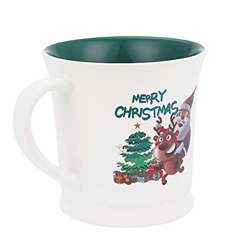 BOSALY Cofffee Mug, Christmas Coffee Cup With Xmas Letters Pattarn Decor Gift