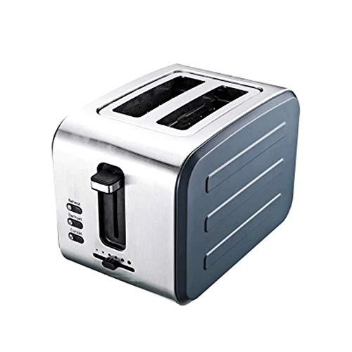 JYDQM broodrooster voor broodmachine, 2 broodroosters van roestvrij staal, ontdooi-/stopfunctie, extra brede sleuven, uitneembare kruimellade, roestvrijstalen rooster