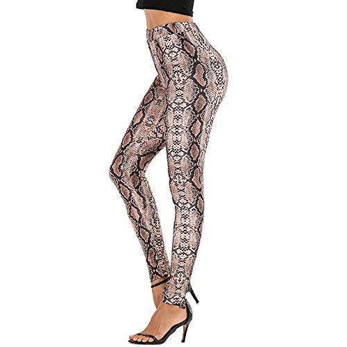 APHT Femmes Taille Haute Sculpture Sport imprimé léopard Leggings Mode Compression entraînement Pantalon de Course Pantalon de Yoga de Puissance élastique