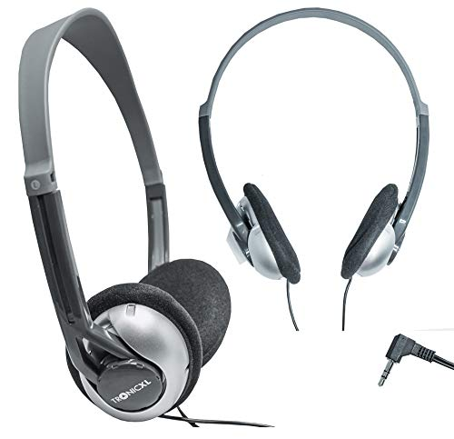 TronicXL Fernseh Kopfhörer 6m langes Kabel Kopfbügel kompatibel mit für Fernseher Samsung LG Sony Toshiba DYON JVC Philips Apple iPad iMac Computer etc Stereokopfhörer Headphones Klinkenstecker