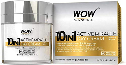 Glamorous Hub WOW 10 in 1 Active Miracle No Parabens & Mineral Oil Day Cream 50mL (Packing May Vary)