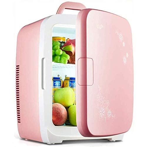 Rosa Multifunktionaler Kühlschrank, Ruhige Desktop-Minibar Outdoor Travel 12 V / 220 V 15 Liter Mini Car Home Office Reise Tragbarer Einzelschüler (Farbe: B)