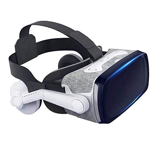 JYMYGS Gafas VR, Gafas de Realidad Virtual, VR Glasses Visión Panorámico 360 Grado Película 3D Juego Immersivo para Móviles 4.0-6.0 Pulgada para iPh X/7/6s 6/Plus, Galaxy s8/ s7, etc. N096JL