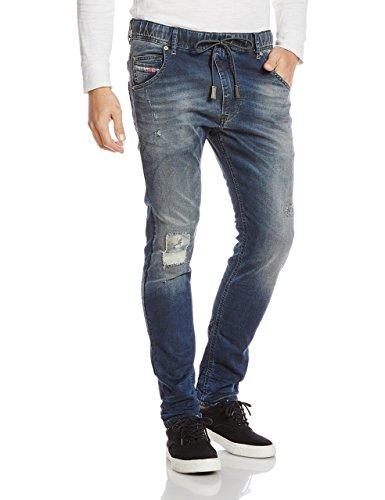 Diesel Herren Hose Krooley - NE Sweat Mens Jogg Jeans Kordel 0678J Stretch W26