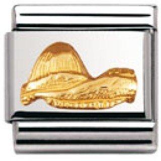 Nomination Composable Classic Relief Monument Edelstahl und 18K-Gold (Zuckerhut) 030123