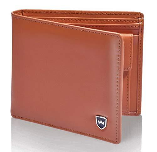 Kronenschein® Premium Geldbörse Herren groß Nappa Leder Portemonnaie Geldbeutel Männer Brieftasche RFID Wallet Portmonee Herrengeldbeutel