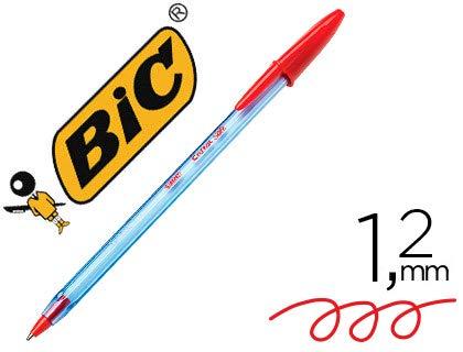 Boligrafo bic cristal soft rojo punta de 1,2 mm. (50 Unidades)