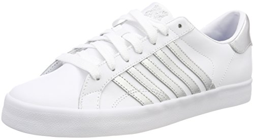 K-Swiss Damen Belmont SO Sneaker, Weiß (White/Silver/White 154), 41 EU