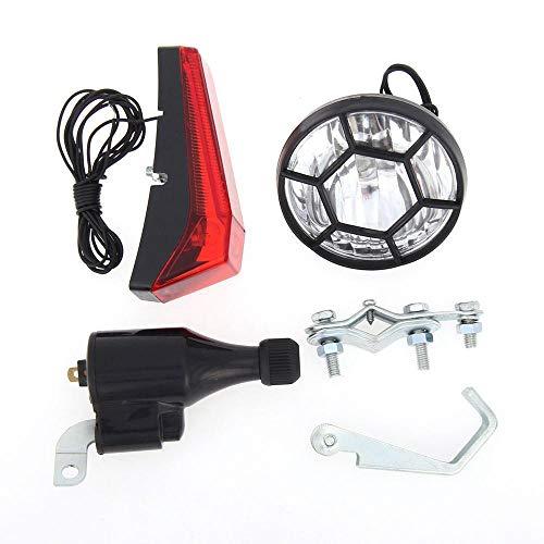 XWYWP Juego de luces de bicicleta bicicleta kit bicicleta seguridad faro delantero para bicicleta luz trasera luz roja