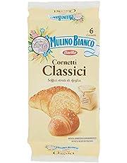 Mulino Bianco Cornetti Classici per la Colazione e Snack Dolce per la Merenda, 6 Cornetti