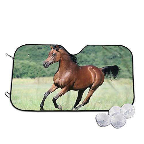 Sombrillas de coche de caballo árabe ventana delantera de la moda del vehículo accesorios interiores anti-UV sombra aislamiento