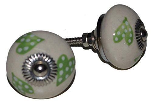 Meubelknoppen meubelknop meubelgreep keramiek porselein handgeschilderd vintage meubelknoppen voor kast Indisch 94 4 cm blauw