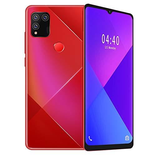 Goshyda MIQOO S30 Smart Mobile Phone, 6 + 64G Metal Red Pantalla de caída de 6.7 Pulgadas, Desbloqueo Facial de Huellas Dactilares, Doble Tarjeta de Doble Modo de Espera, Cámara de Belleza(EU)