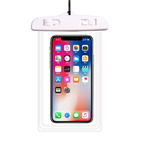 Caja impermeable del de 6 pulgadas, caja impermeable del teléfono móvil de la natación impermeable, conveniente para el iPhone, Samsung, Huawei, etc. (solo bolsa impermeable incluida)