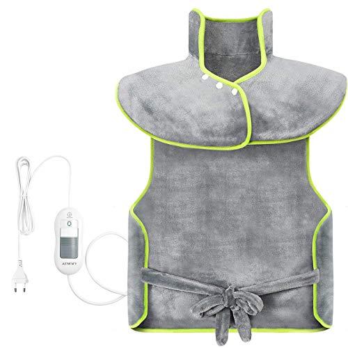 ATMOKO Heizkissen 60 x 100cm Wärmekissen Elektrisch 1.5H Abschaltautomatik 3 Temperaturstufen schnelle Heizung Heizdecke Maschinenwaschbar Muskelentspannung für ganzen Körper