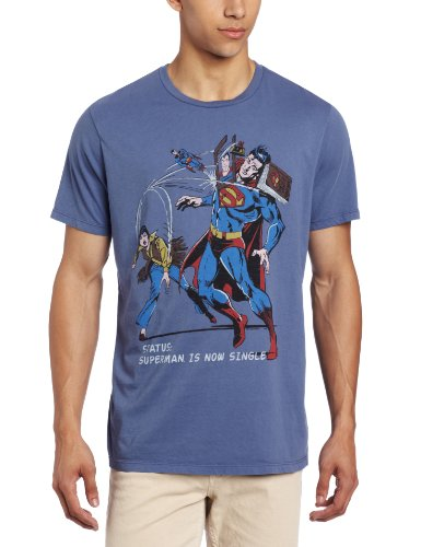 Junk Food T-Shirt Superman is Now Single Clothing - Taille XL