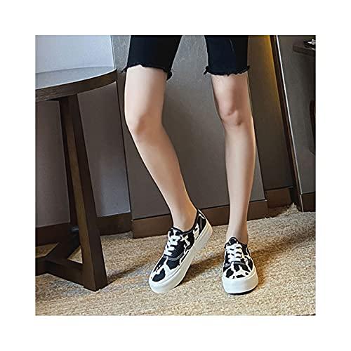 HaoLin Zapatos para Caminar Zapatos para Conducir Confort Zapatillas para Aumentar La Altura,Black-36 EU