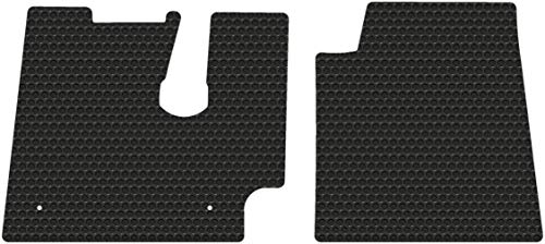 lloyd Mats Compatible with Kenworth T600 660 800 W900 C500  All-Weather Rubber Floor Mats Fits from July 2005-2020 - Pick Black Gray or Tan (Black)