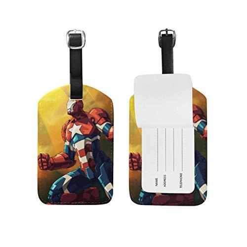 Iron Man - Remolque de Equipaje con Correa Ajustable de Piel para...