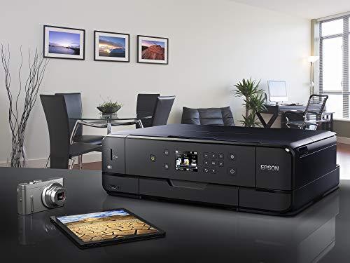 Epson Expression Premium XP-900 3-in-1 Tintenstrahl-Multifunktionsgerät Drucker (Scannen, Kopieren, WiFi, Duplex, Einzelpatronen, 5 Farben, DIN A3, Amazon Dash Replenishment-fähig) schwarz