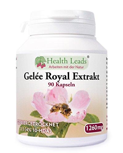 Gelée Royal (gefriergetrocknet), 420 mg Extrakt in Verhältnis 3:1, entspricht 1.260 mg x 90 Kaps