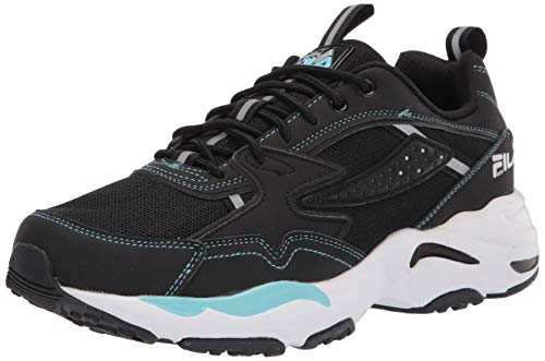 Fila mens Men's Fila Trail Tracer Sneaker, Black/White/Metallic Silver, 8.5 US