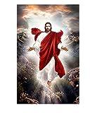 YHKTYV Statue De Dieu Chrétien Jésus Puzzle 300 Pieces Multicolore Jeu De Puzzle pour La Décoration De La Maison Stimuler La Créativité Décompressez Les Jouets