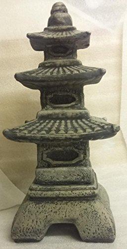 Koi-boerse Farol japonés Yukimi, de piedra fundida, pagoda, rankei, lámpara de jardín, resistente a las heladas
