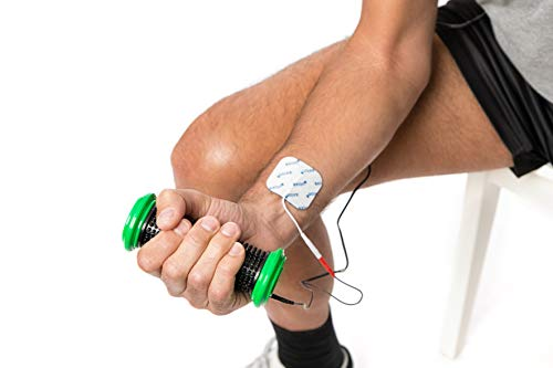 axion - Hand electrode + 5 x 5 cm electrode pads + cable for TENS pain treatment.
