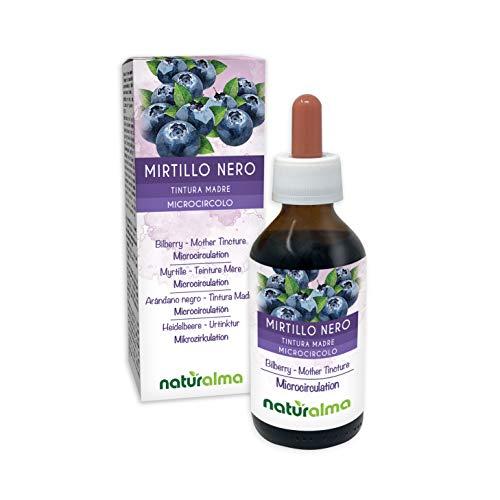 HEIDELBEERE (Vaccinium myrtillus) Früchte Alkoholfreier Urtinktur NATURALMA | Flüssig-Extrakt Tropfen 100 ml | Nahrungsergänzungsmittel | Veganer