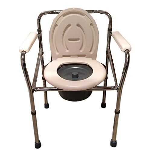 LIU UK Portable Toilet Commode Pliante SièGe De Toilette en Alliage D'Aluminium Seau RéGlable en Hauteur Mobilité Aide à La Personne HandicapéE Salle De Bains Tabouret De Bain