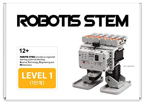 ROBOTIS STEM Level 1 7-in-1 Comprehensive Motorized Robotics Kit, DIY STEM Configurable Science Experiment for High-School Kids, Learn Principles of STEM in 21 Lesson Projects (901-0028-200)